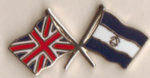 Great Britain and Nicaragua Friendship Flag Pin Badge